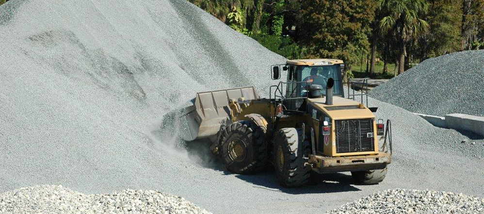 Loader and rock